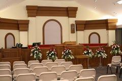 Cadeiras da igreja Imagem de Stock