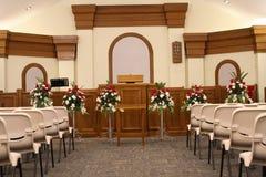 Cadeiras da igreja Fotos de Stock Royalty Free