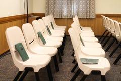 Cadeiras da igreja Foto de Stock Royalty Free