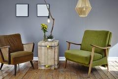 Cadeiras da sala de estar dois fotografia de stock