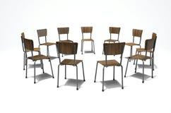 Cadeiras da terapia do grupo Fotografia de Stock