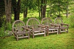 Cadeiras de Adirondack Fotografia de Stock