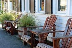 Cadeiras de Adirondack foto de stock