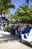 Cadeiras de Adirondack em uma praia   Imagem de Stock Royalty Free