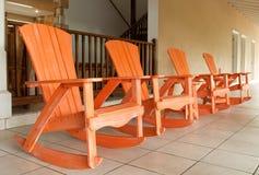 Cadeiras de balanço fotos de stock