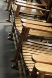 Cadeiras de balanço de madeira lindos Imagens de Stock