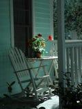 Cadeiras de balanço no patamar Fotografia de Stock Royalty Free