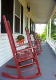 Cadeiras de balanço vermelhas Imagem de Stock Royalty Free