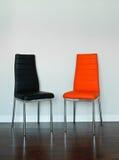 Cadeiras de couro Fotografia de Stock Royalty Free
