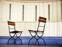 Cadeiras de dobradura imagem de stock