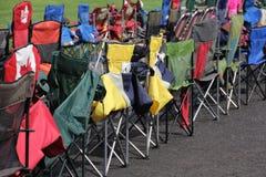 Cadeiras de dobradura Foto de Stock Royalty Free
