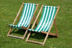Cadeiras de gramado Fotografia de Stock