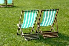 Cadeiras de gramado Fotos de Stock Royalty Free