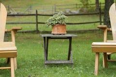 Cadeiras de jardim Fotografia de Stock