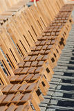 Cadeiras de madeira imagens de stock
