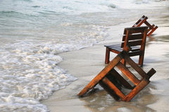 Cadeiras de madeira Fotografia de Stock Royalty Free