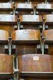 Cadeiras de madeira no circo fotos de stock