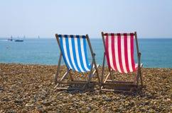 Cadeiras de plataforma Fotografia de Stock Royalty Free