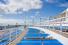 Cadeiras de plataforma do navio de Crusie Foto de Stock Royalty Free