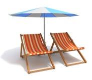 Cadeiras de praia ilustração do vetor