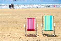 Cadeiras de praia Fotos de Stock
