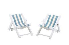 Cadeiras de praia Foto de Stock Royalty Free