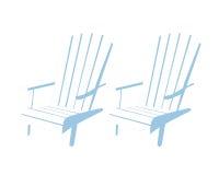 Cadeiras de praia ilustração royalty free