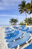Cadeiras de praia da ilha das Caraíbas Fotos de Stock
