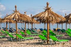 Cadeiras de praia tropicais Imagem de Stock