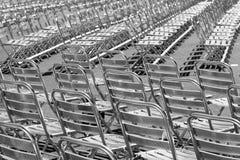 Cadeiras de prata Imagem de Stock
