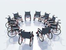 Cadeiras de roda Fotografia de Stock Royalty Free