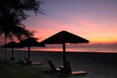 Cadeiras de sala de estar do nascer do sol Imagens de Stock Royalty Free