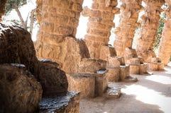 Cadeiras de Stonen da vara do ¼ do parque GÃ Imagem de Stock Royalty Free