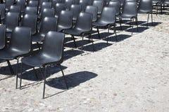 Cadeiras de um cinema exterior Imagem de Stock Royalty Free