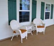 Cadeiras de vime Imagens de Stock