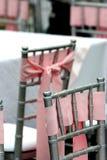 Cadeiras decoradas da recepção imagem de stock royalty free