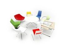 Cadeiras diferentes ilustração royalty free