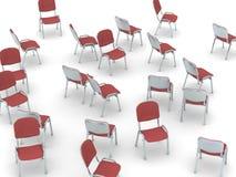 Cadeiras dispersadas Imagem de Stock Royalty Free
