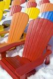Cadeiras do assento da cor Fotografia de Stock