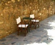 Cadeiras do café Imagem de Stock