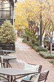 Cadeiras do café no savana histórico GA E.U. do passeio Imagem de Stock Royalty Free
