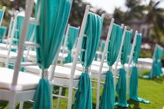 Cadeiras do casamento Imagens de Stock Royalty Free