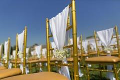 Cadeiras do casamento Imagem de Stock Royalty Free