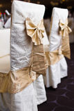 Cadeiras do casamento da recepção Fotos de Stock Royalty Free