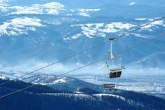 Cadeiras do esqui Fotos de Stock Royalty Free
