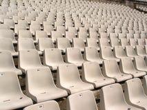 Cadeiras do estádio de futebol Fotos de Stock Royalty Free