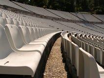 Cadeiras do estádio de futebol Fotos de Stock