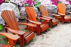 Cadeiras do pátio Fotos de Stock