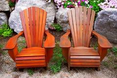 Cadeiras do pátio Foto de Stock Royalty Free
