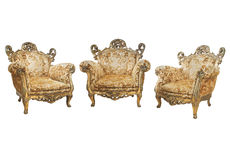 Cadeiras do Victorian Imagem de Stock Royalty Free